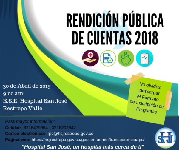RENDICIÓN PÚBLICA DE CUENTAS